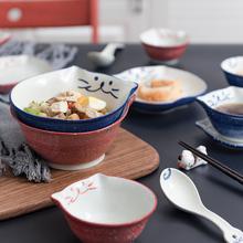 招财猫猫咪碗日款碗盘陶瓷餐具ro11用饭碗et子可爱碗碟套装
