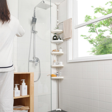顶天立ro浴室置物架ci免打孔厕所马桶转角架落地卫生间收纳架