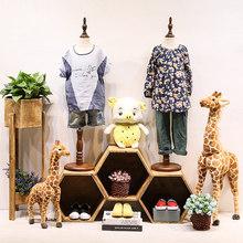 儿童模特ro具 童装服ki孩拍摄衣架婴幼儿半身软体橱窗展示架
