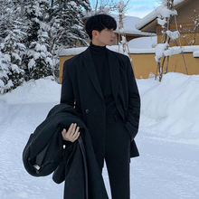 MRCroC冬季新式ab西装韩款休闲帅气单西西服宽松潮流男士外套