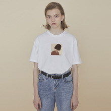 PROroBldg co计 情侣装夏装T恤女宽松短袖T恤黑色上衣