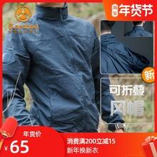 男士防晒衣夏季超薄ro6气冰丝防ep紫外线户外皮肤衣薄式外套