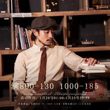 SOAroIN英伦复nd衬衫男 Vintage古着垂感商务休闲打底长袖衬衣