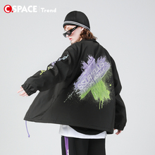 Csarpce SSdePLUS联名PCMY教练夹克ins潮牌情侣装外套男女上衣