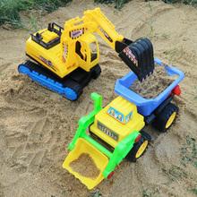 大号挖rp机工程车套nd机翻斗车沙滩玩具车宝宝男孩铲车玩具车