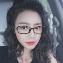 韩款近rp眼镜女白领ng脸潮TR超轻可配有度数眼睛框镜架显脸(小)