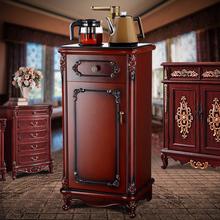 欧式复rp全自动木质ng置水桶茶吧机立式饮水机  茶水柜