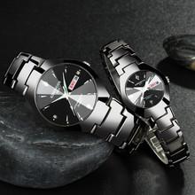 新款钨钢色手表rr士女士情侣xw尚石英双日历防水男表女表夜光