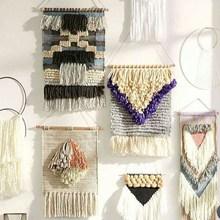 编织幼rr园区宝宝练xw手工制作diy毛线幼儿园挂毯壁。
