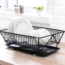 滴水碗碟架晾rr沥水架不锈jx收纳置物免打孔碗筷餐具碗盘架子
