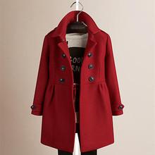202ru新式女童欧yj加棉加厚羊毛呢子外套中大童大衣