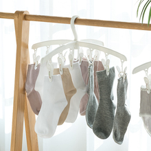 日本进ru晾袜子衣架tr十字型多功能塑料晾衣夹内衣内裤晒衣架