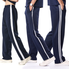 校服裤rv一条杠秋式ix男长裤两道杠初高中裤冬式加绒