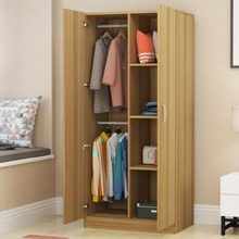 简易衣rw现代简约经bq木板式卧室出租房用(小)户型收纳家用柜子