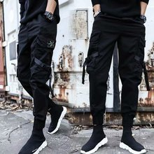 欧街潮rw黑暗城市赛hq机能风工装裤子男非主流发型师休闲裤男
