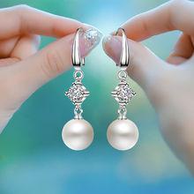 [ryder]长款珍珠耳环女士银耳坠925耳饰