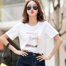 女装短ryt恤女半袖su尚2021年夏季新式潮流纯棉体��减龄�B血