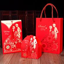 请帖喜糖盒三件套高档请柬喜帖ry11020su风婚礼结婚创意套装