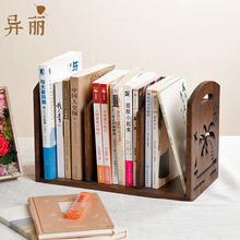 实木简ry桌上宝宝(小)su物架创意学生迷你(小)型办公桌面收纳架