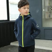 202s1春装新式男s3青少年休闲夹克中大童春秋上衣宝宝拉链衫