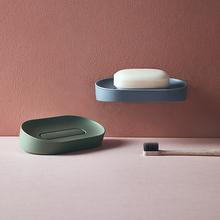 吸盘壁s6式免打孔家6r盒浴室卫生间创意沥水双层肥皂架