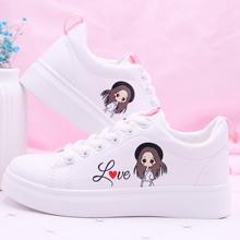女童鞋子透气单鞋12sa7秋韩款公hi(小)白鞋学生平底运动板鞋15