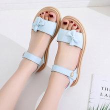 女童凉sa(小)学生20hi式时尚韩款夏季宝宝童鞋女中大童软底公主鞋