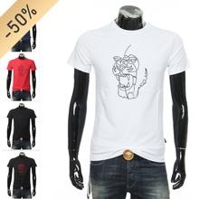 正品 CAVALLI CLsa10SS ar短袖圆领T恤 B3JUB720 36