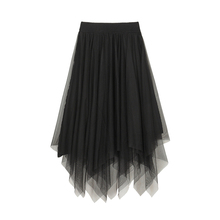 VEGsa CHANur半身裙设计感女2021春秋式(小)众法式不规则子