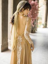 法式复sa露背蕾丝西un夏沙滩裙海边度假仙女异域风长裙