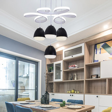北欧创sa简约现代Les厅灯吊灯书房饭桌咖啡厅吧台卧室圆形灯具