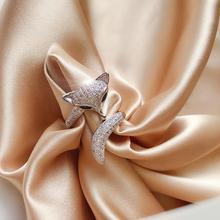 韩国时尚 个性食指戒指女
