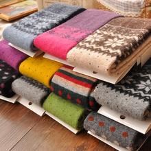 兔羊毛袜套女过膝秋冬季显