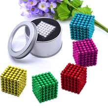 21sa颗磁铁3mao石磁力球珠5mm减压 珠益智玩具单盒包邮