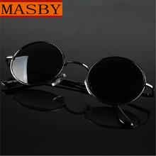 正品偏光太阳sa男士圆墨镜bo子镜圆形太阳镜男女圆框(小)墨镜