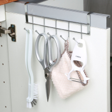 厨房橱sa门背挂钩壁bo毛巾挂架宿舍门后衣帽收纳置物架免打孔