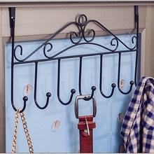 免打孔sa后挂钩置物bo衣架浴室免钉门上背式衣服挂架衣帽衣钩