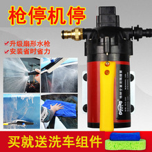 12vsa车器洗车机bu载电动便携车家两用清洗机自助洗车隔膜泵