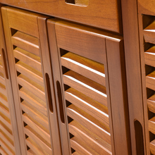 鞋柜实木特sa对开门入户ng叶门厅柜家用门口大容量收纳玄关柜