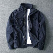 秋冬户外高领sa3棉男军旅lu多袋军绿迷彩卡其深蓝色外套夹克