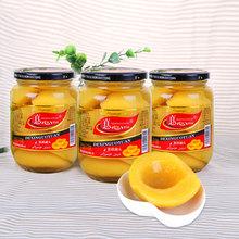 新鲜黄桃罐头sa10g*4bo雪梨杂果山楂杏什锦糖水罐头水果玻璃瓶