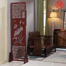 屏风隔断时尚客厅玄sa6卧室移动en实木镂空折叠(小)户型中式墙