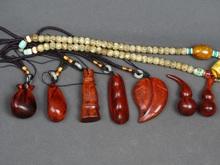 印度(小)叶紫檀手把件沉水木sa9吊坠木质ra串原木钥匙挂件男