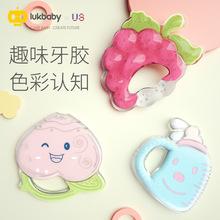 宝宝磨sa棒神器婴儿ra胶宝宝硅胶玩具口欲期4个月6可水煮无毒