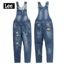 leesa牌专柜正品ra+薄式女士连体背带长裤牛仔裤 L15517AM11GV