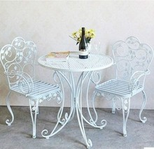 美式欧sa铁艺椅子 ra单的户外椅子 阳台沙发椅子 庭院休闲椅
