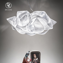 意大利sa计师进口客on北欧创意时尚餐厅书房卧室白色简约吊灯