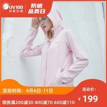 UV1sb0女夏季冰ul21新式防紫外线透气防晒服长袖外套81019