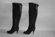全皮高sc女靴简约磨la侧拉链靴子里外真皮时尚长靴1790802