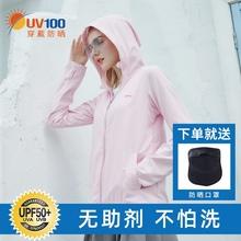 UV1sc0女夏季冰xw20新式防紫外线透气防晒服长袖外套81019